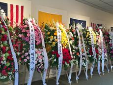 Flowers from Korean American Community for Susan Ahn Cuddy. July 2, 2015 Hall of Liberty Forest Lawn Hollywood Hills
